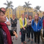 Celia begins our tour of Lima