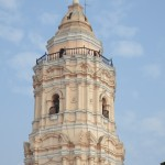 The tower at Santo Domingo Church and Monastery