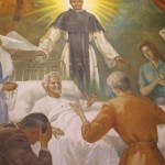 This painting depicts one of the miracles attributed to San Martin de Porres