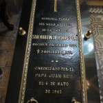 San Martin of Porres' grave -- he died in 1639 but was not canonized until 1962