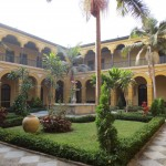 One of the courtyards inside Santo Domingo Monastery