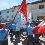 School children marching in the procession