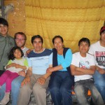 With members of his host family (from left):  brother Herbert, sister Wanda, father Dionicio, mother Elizabeth, brother Diego and brother Luis