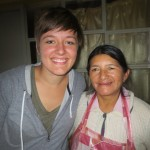 Nikita with Senora Victoria, who cooks for 43 children each day