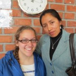 Anna with her host sister, Zaida, who works as administrative assistant at Apostle Paul