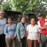 With her host family (from left):  sister Elizabeth, sister Zaida, mother Emilias, father Alejandro and nephew Mateo