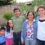 Emily's host family (from left): Caleb, Eunice, Pastor Juan Samuel and Yovana