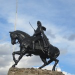 Statue of General Sucre, one of the leaders of the resistant force that defeated the Spanish in Peru's battle for independence