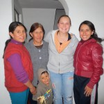 Megan with members of her host family (from left): sister Isabel, mother Delia, nephew Abraham and sister Jessica