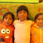 These three girls are among the three hundred children who are signed up for the program