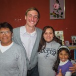 Luke with members of his host family (from left): Grandma, Deyadira and Isabel