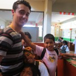 Philip with some of the children he serves