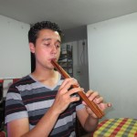 Philip bought this flute while in the Andes and practices each day