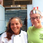 Cara also works at the Compassion International project in the afternoons -- here she is with the cook