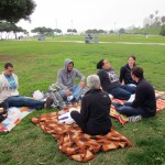 Students enjoyed a beachside picnic during their first full day in Lima.