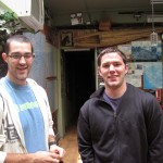 Rudy and Joshua at Casa Miraflores the morning after their arrival in Peru.