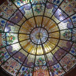 A magnificent stained glass window in the Government Palace.