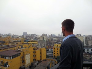 Alan takes in the spectacular views from the tower at the Convent of Santo Domingo