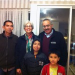 Members of the Meza family from La Victoria district.