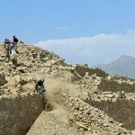 Centuries of soil and debris are being removed to uncover structures at Caral.