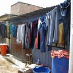 Newly washed laundry in Chavín de Huántar.