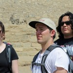 Becca, Joshua and Jacob at Caral.