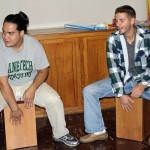 Jacob and Alan play the cajon.