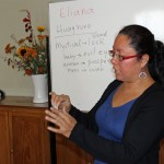 Eliana Mauriola Carrasco presented a workshop on jewelry making.