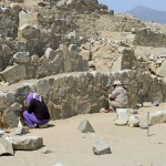 Restoration work at Caral.