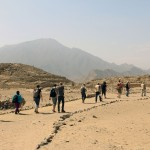 Hiking through the Sacred City of Caral.