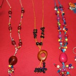 A display of jewelry created by Eliana Mauriola Carrasco.