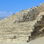 Detailed stone work at Caral.