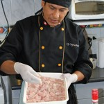 Nicolás Ferrer Quispe says fresh fish is essential for excellent ceviche.