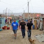 Goshen College students, led by Jacob, Becca and Joshua, depart Chavín de Huántar.