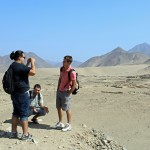 Jacob, Rudy and Alan enjoy the vista at Caral.