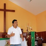 Pastor Anderson Sanchez explained the church's after-school program.
