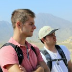 Alan and Joshua at Caral.