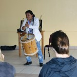 Americo (Amaru) Mejia Suñiga  plays for the students.