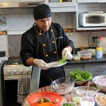 Nicolás Ferrer Quispe prepares a fresh presentation of his ceviche.