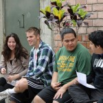 Alan and Jacob speak with Peruvian university students.