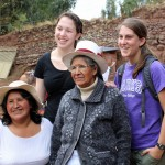 Becca and Lauren share a memory with their host mother and grandmother in Lucre.