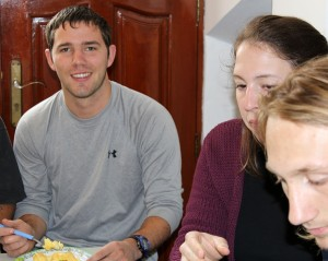 Joshua, Becca and Landon enjoyed making and eating two Peruvian dishes.