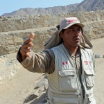 A tour guide at Caral.