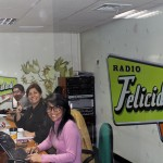 The friendly staff of Radio Felicidad (happiness).
