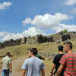 Approaching the famous zigzag walls of Saqsayhuaman
