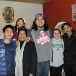 Jacob with his host parents, Deyadira and Abraham Bañon (right), his host grandmother (left) and his host brother and sister.