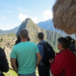 A first glimpse of Machu Picchu.