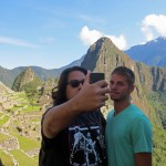 Jacob and Alan capture their first magical moments at Machu Picchu.