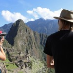 Lauren and Landon take in the beauty of Machu Picchu.