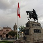 The Plaza Mayor has this statue of General Antonio José de Sucre, who in 1824 commanded troops that defeated Spanish forces, setting the stage for the independence of Peru and the rest of South America.